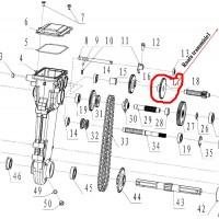 Roata transmisie 1 motosapa  Dac, Ruris, Zimbru, Gigant