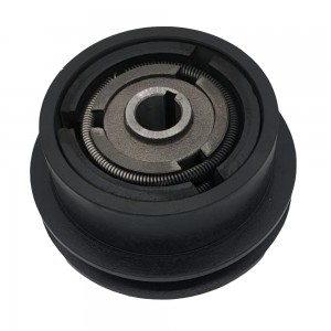 Ambreiaj centrifugal motoutilaje cu ax 20mm, fulie 128mm