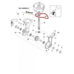 Rulment superior ax melcat Sprint 650B, 650L, 550H, Farm 450
