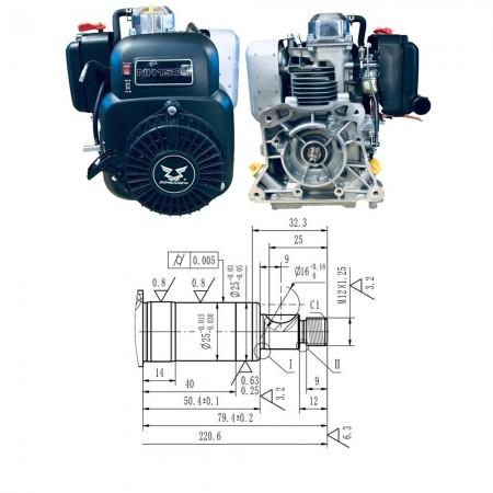 Motor Zongshen NH150H 149cc ax orizontal